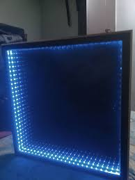 infinity mirror table the easy version 6 steps with pictures