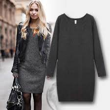 wool dress new autumn and winter women dress plus thick velvet plus size