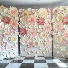 wedding backdrop paper flowers pictures on flower backdrop rental for wedding bridal catalog