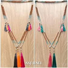 tassel necklace beads images Tassels necklaces bali wholesale tassels beads necklace handmade jpg