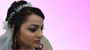 wedding hair using nets indian bridal makeup christian bride youtube