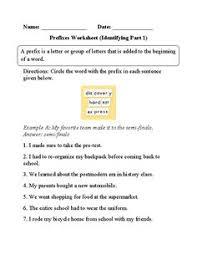 prefixes list education pinterest prefixes worksheets and
