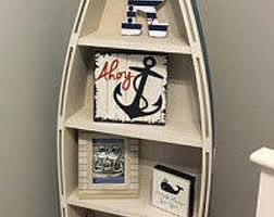 Wood Boat Shelf Plans by Bookcase Etsy