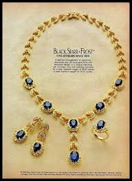 sapphire necklace earrings images 1982 black starr frost jewelry sapphire necklace earrings ring JPG