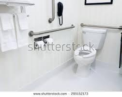 handicapped disabled access bathroom bathtub grab stock photo
