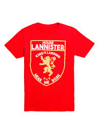 house lannister game of thrones house lannister shield logo t shirt hot topic
