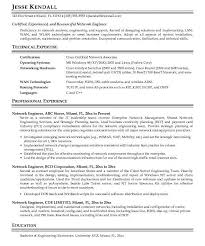 Best Network Administrator Resume by Senior Network Engineer Resume Sample Contegri Com