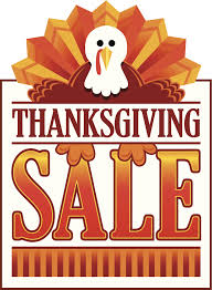 thanksgiving sale on monday