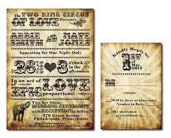 vintage circus themed wedding invitation set printable jpg