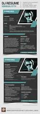 16 best dj press kit and dj resume templates images on pinterest
