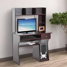 bureau pour ordinateur homcom bureau informatique meuble de bureau pour ordinateur multi