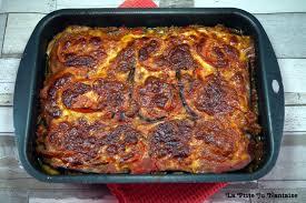 cuisiner aubergine facile lasagnes d aubergines au bœuf haché et aux chignons sans pâtes