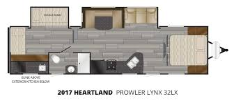 2017 heartland prowler lynx 32lx travel trailer u2013 stock pl17011
