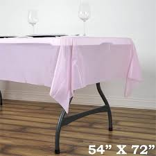 thick plastic table cover 54 x72 wholesale pink 10mil thick disposable waterproof plastic