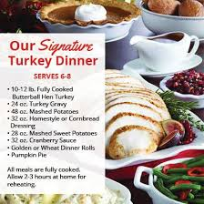 osco on order our signature turkey dinner visit