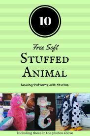10 free soft stuffed animal sewing patterns with photos analina