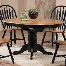Missouri Round Dining Room Set Black Rustic Oak Eci Furniture