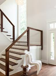 Banister Rails For Stairs Transitional Staircase Ideas Designs U0026 Remodel Photos Houzz