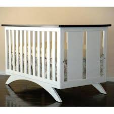 modern white crib baby 3 in 1 convertible crib in espresso and