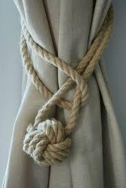 Diy Curtain Tiebacks Creative Of Rope Tiebacks For Curtains Ideas With 25 Best Curtain