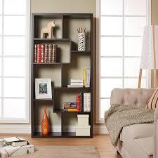 amazon com iohomes modern backless display stand bookcase walnut
