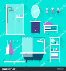 Furniture For Bathroom Vector Illustration Furniture Bathroom Flat Design Stock Vector