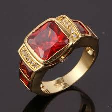 ruby rings sale images Suohuan men 39 s fashion ruby jewelry men rings cz 18 k gold filled jpg