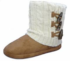 womens slipper boots size 11 dunlop slippers boots winter faux suede fur womens ankle