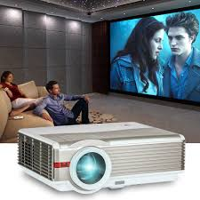5000lumen hd projector home theater movie big screen day night