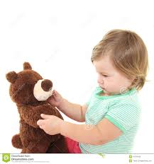 cute baby with her teddy bear stock photos image 14244393