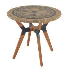 Kirklands Bistro Table Outdoor Interiors 30344ms Stone And The Hardwoods 30 In Matte