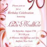 90th birthday invitation template 90th birthday invitation wording