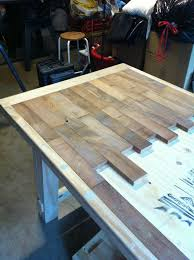 Do It Yourself Kitchen Countertops Diy Wood Plank Kitchen Table Picture Step By Step Would Also Be