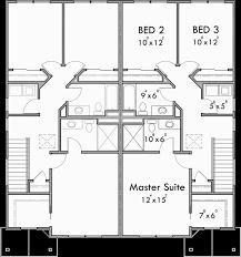 Floor Plans For Duplex Houses Craftsman Duplex House Plans Townhouse Plans Row House Plans