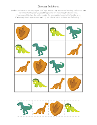 dinosaur sudoku puzzles free printables gift of curiosity