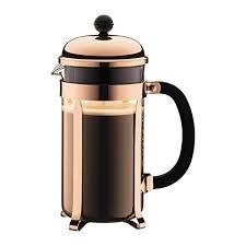 piston cuisine bodum cafetiere piston chambord 8 tasses 1 litre cuivre amazon