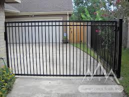 iron fence gates flat top summit fence south