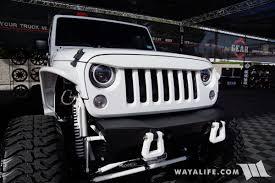 white jeep wrangler unlimited 2017 sema gear alloy wheels white jeep jk wrangler unlimited