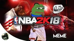 Nba Logo Meme - nba 2k18 is a meme youtube