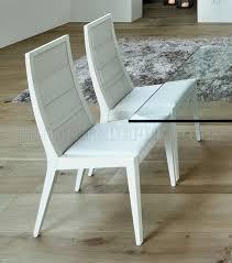 Glass Top Pedestal Dining Tables Ultra Modern Dining Table W Two Pedestal Legs U0026 Glass Top