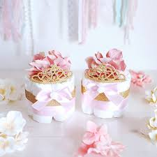 Pink And Gold Centerpieces by Pink U0026 Gold Princess Mini Diaper Cake Baby Shower Centerpiece