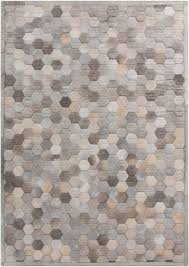 Area Rug Patterns Piece By Piece This Leather Geometric Rug Design Is Patched