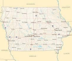 iowa map with cities iowa reference map mapsof