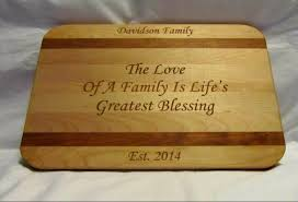 personalized engraved cutting board personalized cutting board custom engraved family large