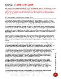 cover letter for sports job cover letter for portfolio choice image cover letter ideas