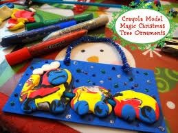 easy to make model magic tree ornaments crayola pack