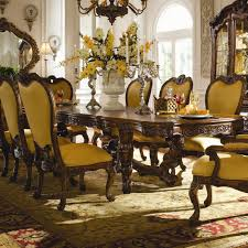 Michael Amini Michael Amini Palais Royale Rectangular Dining Table With Ornate