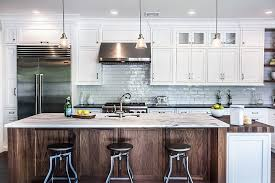 wood kitchen cabinets with white island trendy kitchen makeovers 20 wood islands that blend warmth