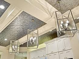 Tin Ceiling Lights Great Ideas For Upgrading Your Ceiling Hgtv S Decorating