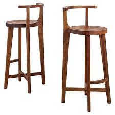 Modern Wood Bar Stool Modern Lacquered Pine Wood Bar Stool With Hoop Back Stools Of